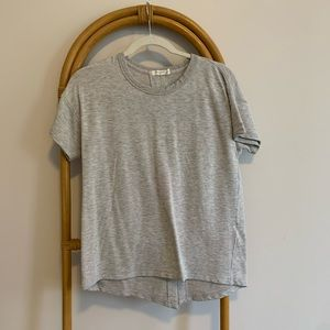 Grey Rag and Bone Split Back Tee